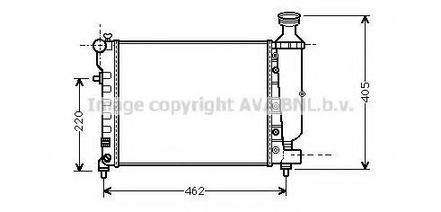 Радиатор охлаждения AVA CNA2206