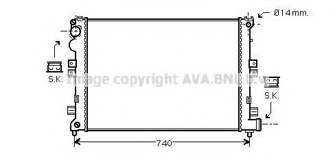 Радиатор охлаждения AVA CNA2208