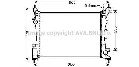 Радиатор охлаждения AVA CNA2261