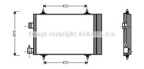 Радиатор кондиционера AVA CNA5173