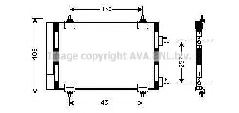 Конденсор кондиционера AVA CNA5230D