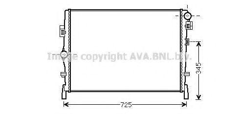 Радиатор, охлаждение двигателя AVA CR2105