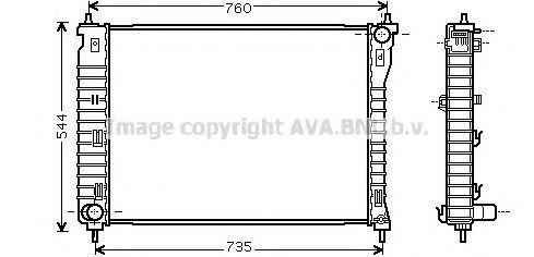 Радиатор, охлаждение двигателя AVA CT2034