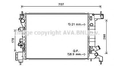 Радиатор, охлаждение двигателя AVA CT2047
