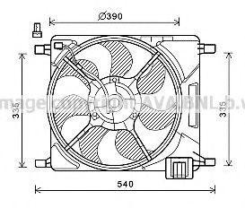 Вентилятор, охлаждение двигателя AVA CT7501