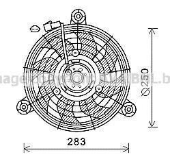 Вентилятор, охлаждение двигателя AVA CT7503