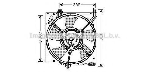Вентилятор, охлаждение двигателя AVA DN7501