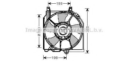 Вентилятор, охлаждение двигателя AVA DN7521