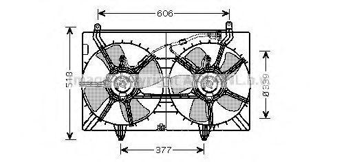Вентилятор, охлаждение двигателя AVA DN7529