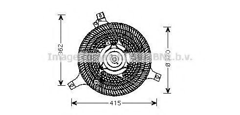 Вентилятор, охлаждение двигателя AVA DN7530