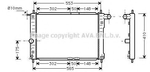 Радиатор охлаждения двигателя AVA DW2039