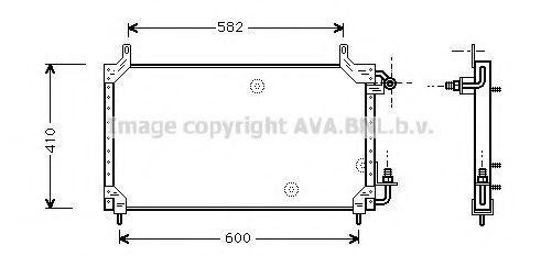 Радиатор кондиционера AVA DW5006