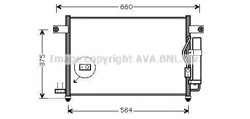 Конденсор кондиционера AVA DW5049D