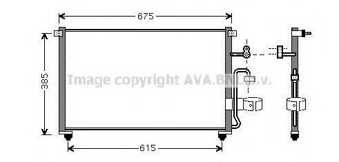 Радиатор кондиционера AVA DW5063