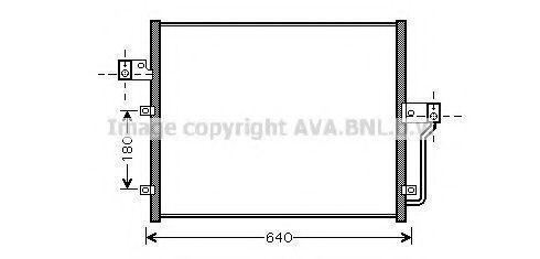 Радиатор кондиционера AVA DW5082
