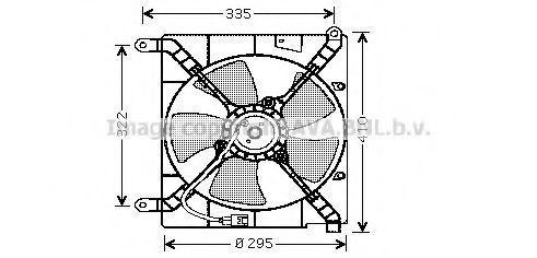 Вентилятор, охлаждение двигателя AVA DW7501