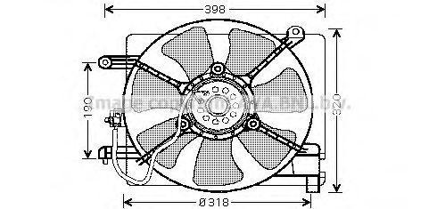 Вентилятор, охлаждение двигателя AVA DW7502