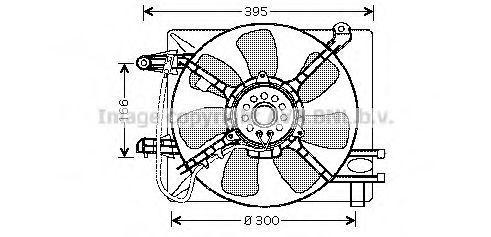 Вентилятор, охлаждение двигателя AVA DW7505
