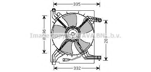Вентилятор, охлаждение двигателя AVA DW7506