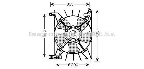 Вентилятор радиатора AVA DW7511