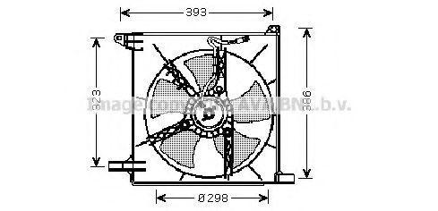 Вентилятор, охлаждение двигателя AVA DW7513