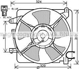Вентилятор, охлаждение двигателя AVA DW7519