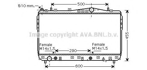 Радиатор охлаждения AVA DWA2074