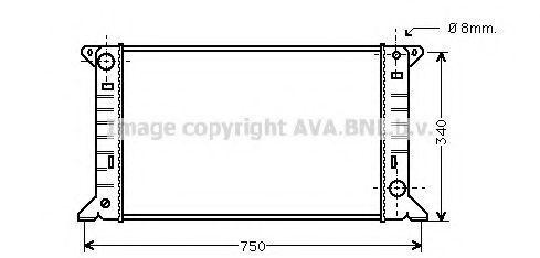 Радиатор охлаждения AVA FD2085