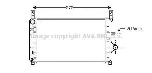 Радиатор AVA FD2127