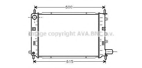 Радиатор охлаждения AVA FD2151
