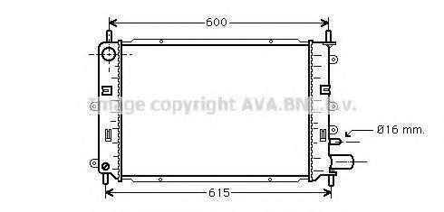 Радиатор охлаждения AVA FD2152
