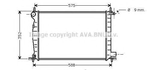 Радиатор охлаждения AVA FD2224