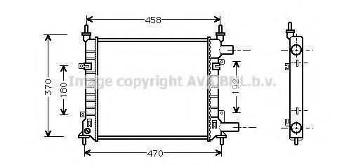 Радиатор охлаждения AVA FD2257