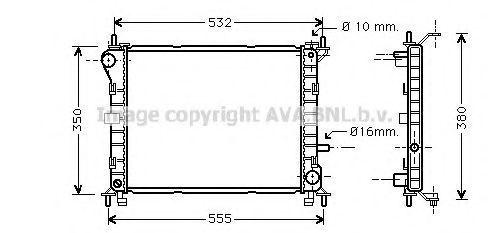Радиатор охлаждения AVA FD2263