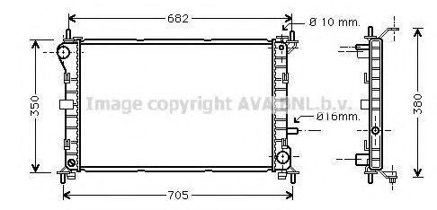 Радиатор охлаждения AVA FD2264