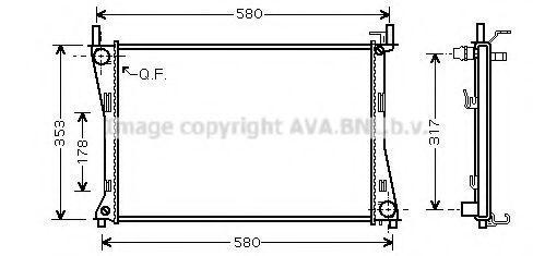 Радиатор охлаждения AVA FD2325