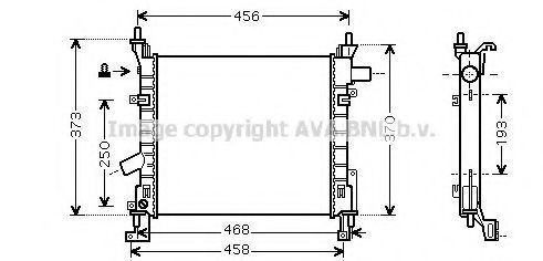 Радиатор охлаждения AVA FD2373
