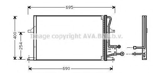 Радиатор кондиционера AVA FD5227