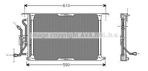 Радиатор кондиционера AVA FD5258