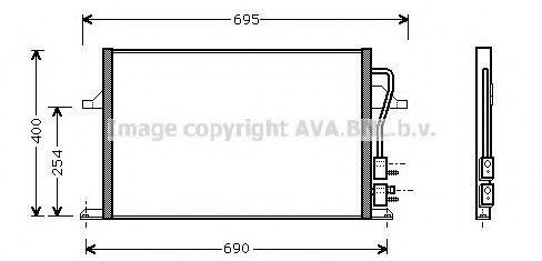 Радиатор кондиционера AVA FD5259