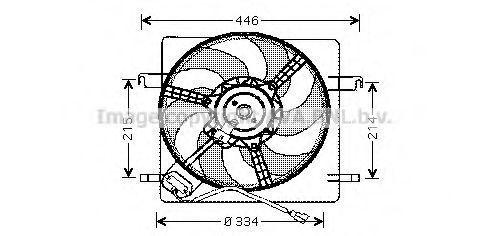 Вентилятор, охлаждение двигателя AVA FD7515
