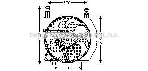 Вентилятор, охлаждение двигателя AVA FD7528