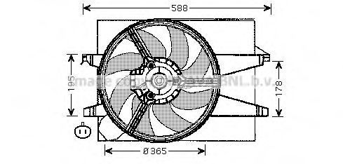 Вентилятор радиатора AVA FD7541
