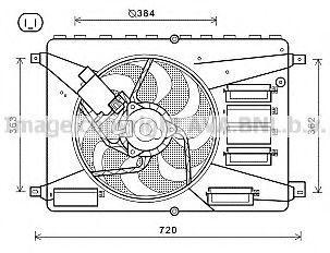 Вентилятор, охлаждение двигателя AVA FD7556