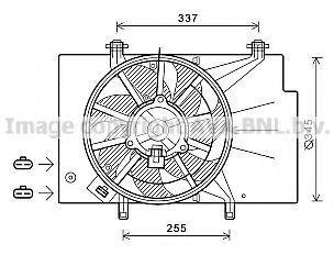 Вентилятор, охлаждение двигателя AVA FD7557