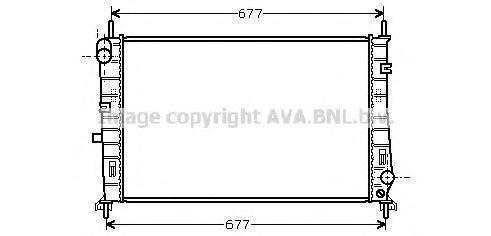 Радиатор охлаждения AVA FDA2165