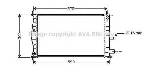 Радиатор охлаждения AVA FDA2218
