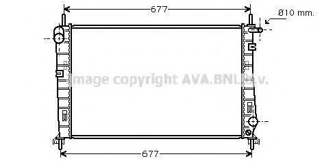Радиатор охлаждения AVA FDA2266