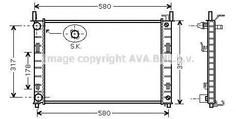 Радиатор охлаждения AVA FDA2324