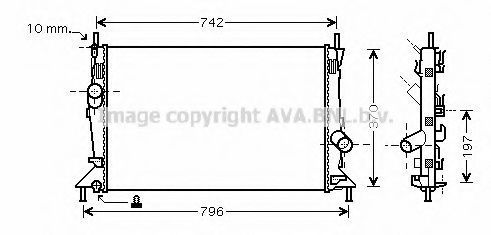 Радиатор охлаждения AVA FDA2369